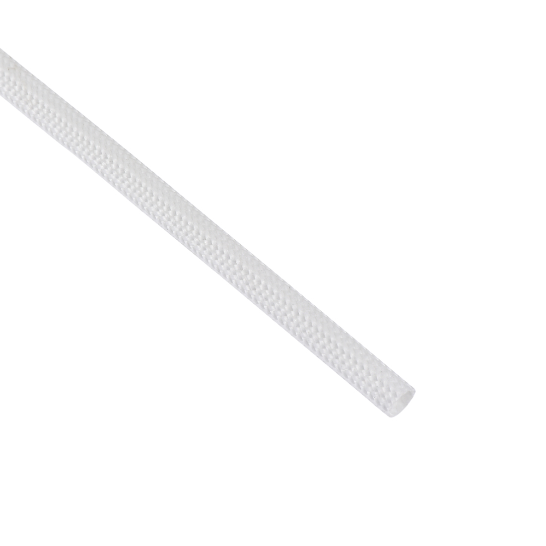 Fiberglass Rubber Silicone Insulation Retardant Sleeving 3mmx5M White