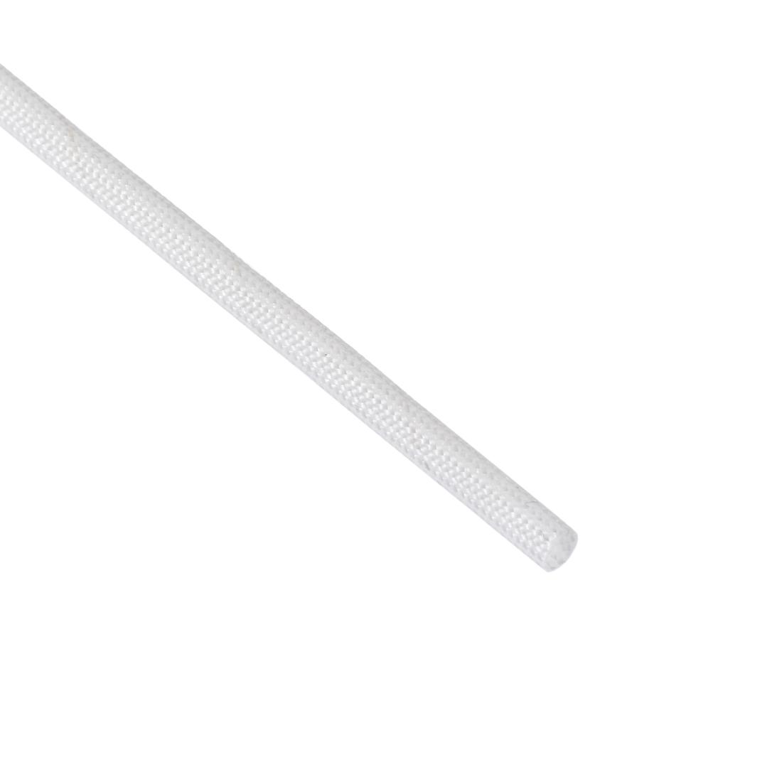 Silicone Rubber Fiberglass Insulation Retardant Sleeving 3mmx10M White
