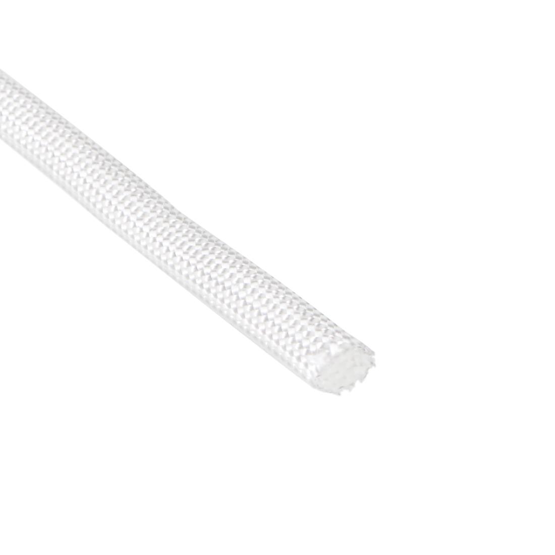 Silicone Rubber Fiberglass Insulation Retardant Sleeving 5mmx10M White