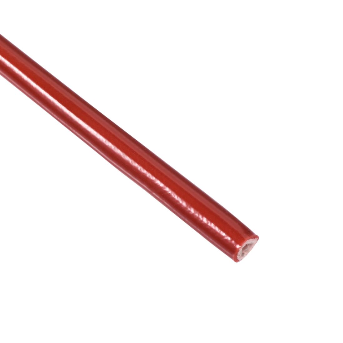 Silicone Rubber Fiberglass Retardant Self-extinguishing Sleeving 4mmx1M RoHS Red