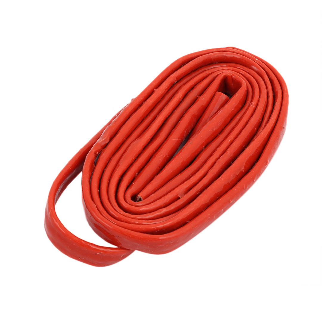 Silicone Rubber Fiberglass Thickened Retardant Sleeving 6mmx2M Red