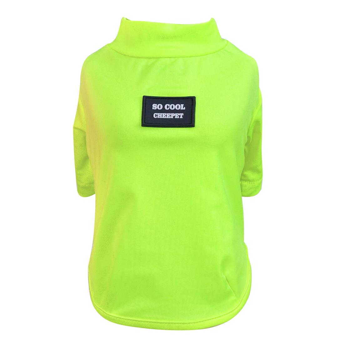 Dog Cat Summer Shirt Clothes Bright Color Solid color Fluorescent Yellow FB