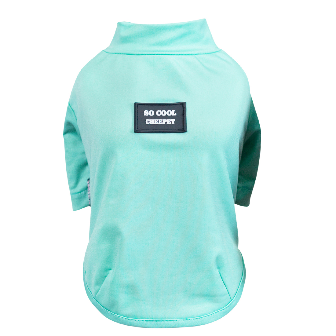Cheepet Authorized Dog Cat Summer Shirt Clothes Bright Color Solid color Lake Green S