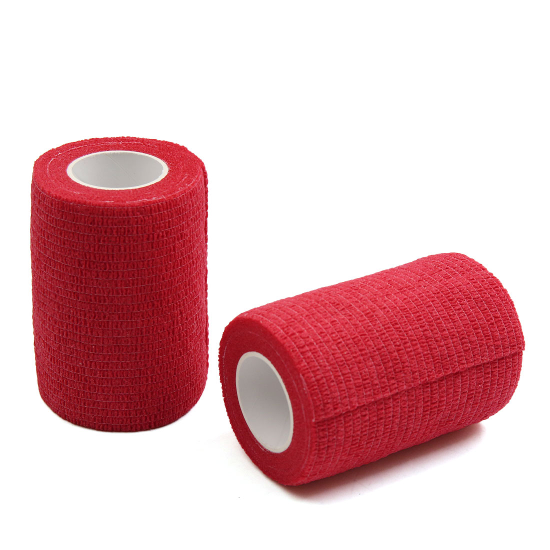 """2 Pcs Red 3"""" Width Self Adhesive Tape Elbow Wrist Ankle Joint Support Wrap Roll"""