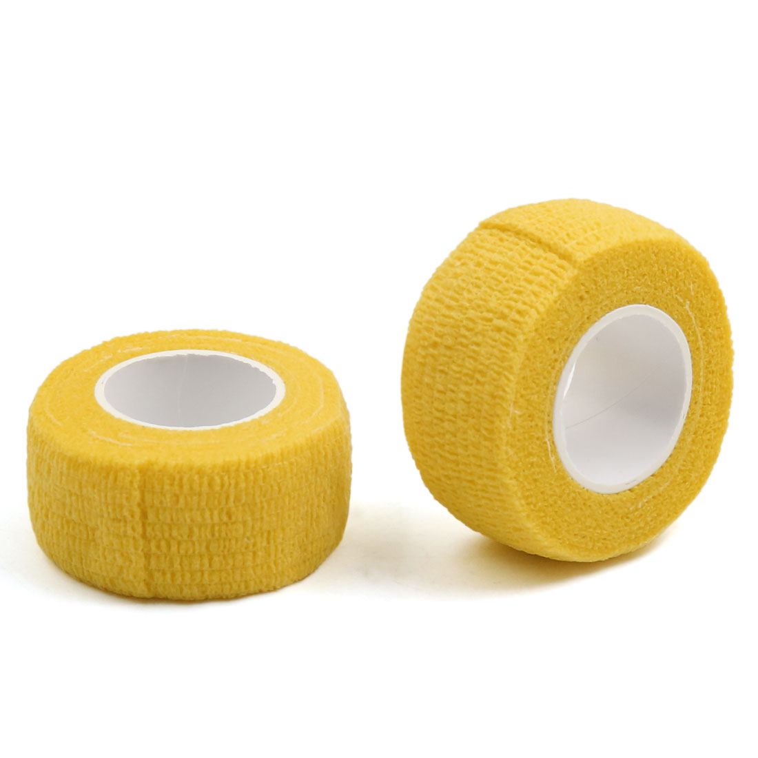 """2 Pcs Yellow 1"""" Width Self Adhesive Tape Finger Elbow Wrist Ankle Wrap Roll"""