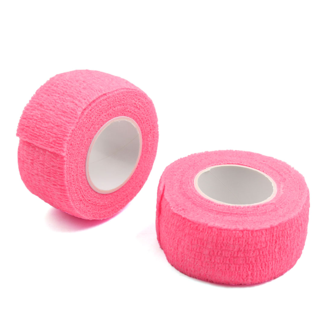 """2 Pcs Pink 1"""" Width Non-woven Self Adhesive Tape Finger Elbow Wrist Ankle Roll"""