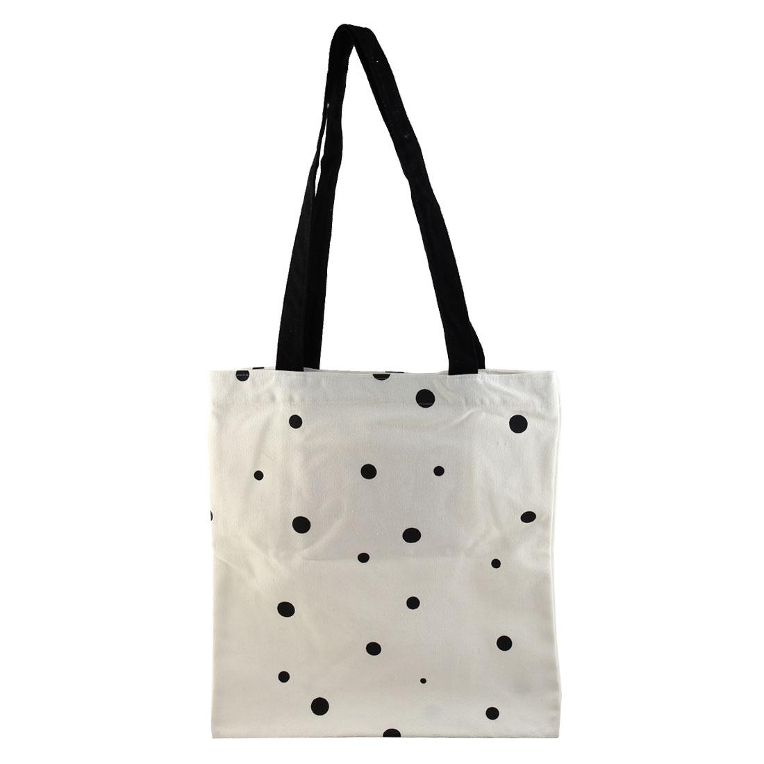 Travel Sundries Storage Print Zipper Closure Handbag Canvas Tote Bag