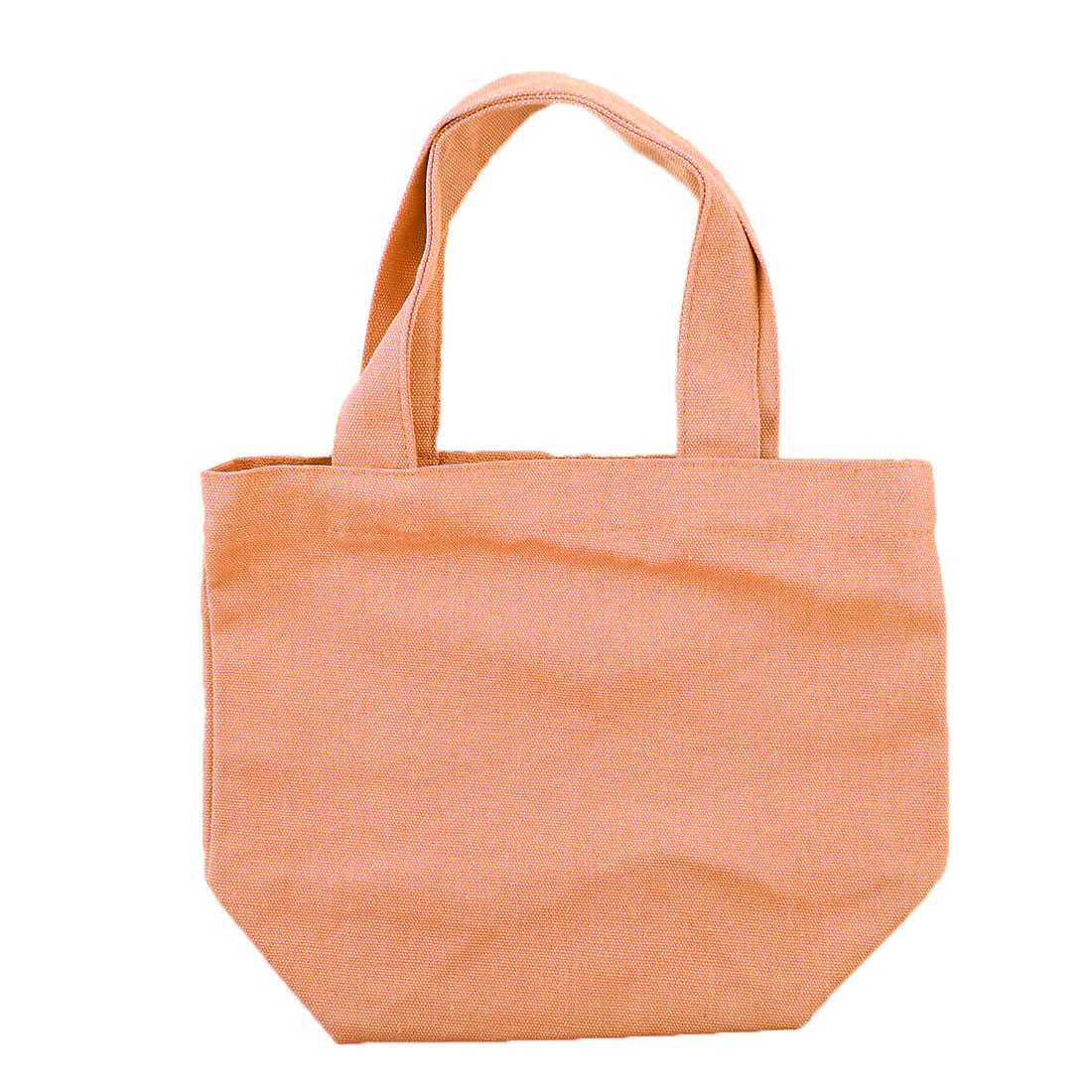 Office Cosmetic Lunch Box Holder Storage Handbag Canvas Tote Bag Orange