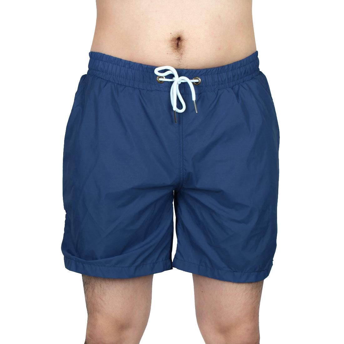 Men Exercise Running Summer Beach Surf Board Shorts Pants Teal Blue W30