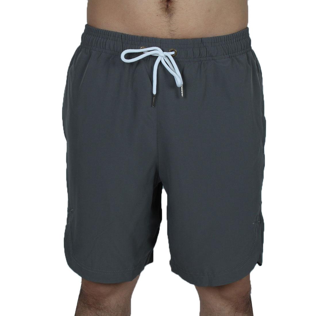Men Athletics Running Polyester Summer Beach Surf Board Shorts Pants Gray W32