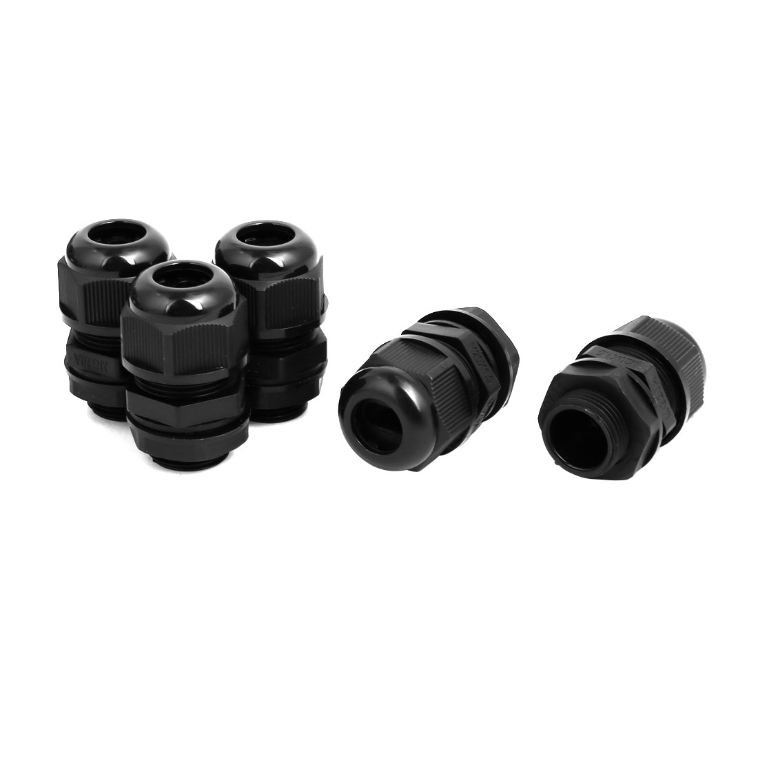 M20x1.5mm Single Hole Adjustable Cables Gland Black 5pcs