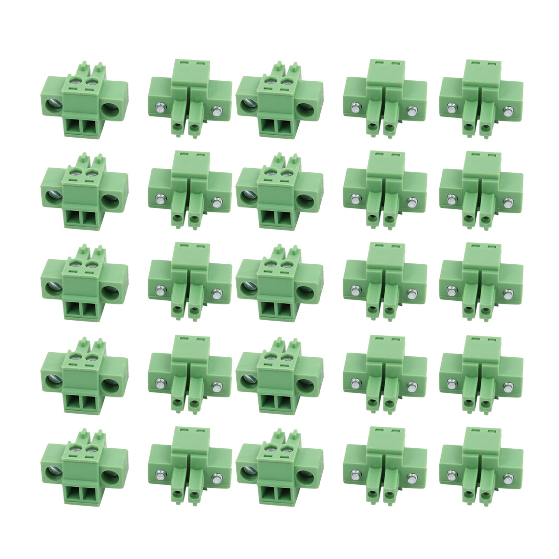 25Pcs LC1M 3.5mm Pitch 2P PCB Mounting Terminal Block Wire Connector