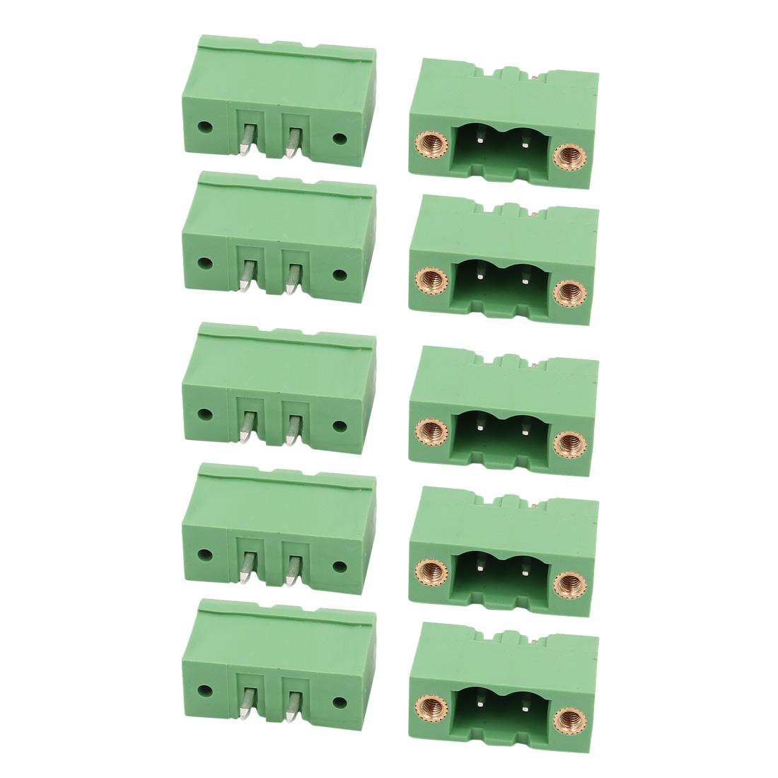10 Pcs LZ1VM 5.0mm Pitch 2P PCB Mounting Terminal Block Wire Connector