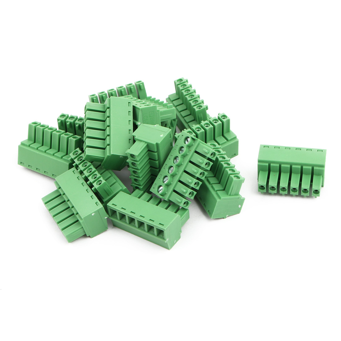 15Pcs AC300V 8A 3.81mm Pitch 6P Terminal Block Wire Connection for PCB Mounting