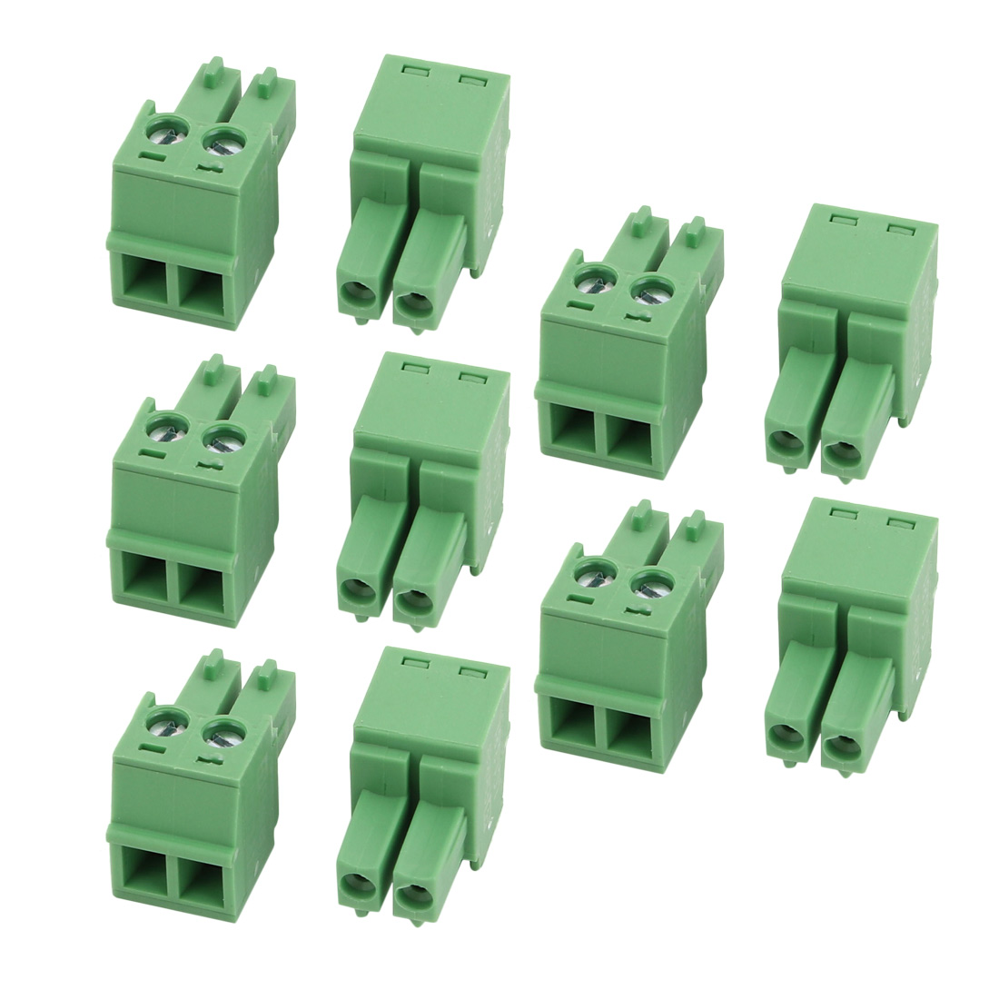 10 Pcs LC1 AC300V 8A 3.81mm Pitch 2P PCB Mount Terminal Block Wire Connector