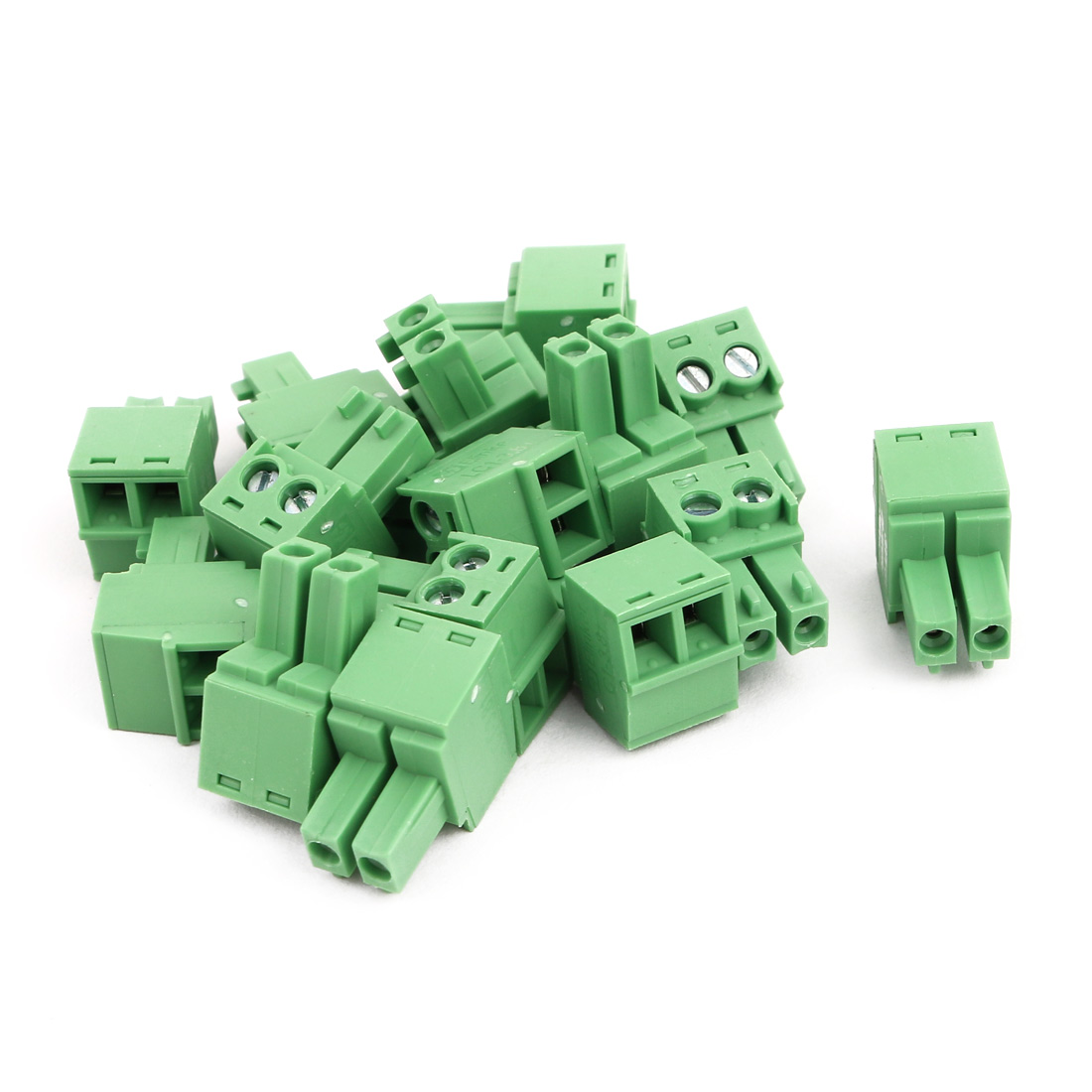 15Pcs AC300V 8A 3.81mm Pitch 2P Terminal Block Wire Connection for PCB Mounting