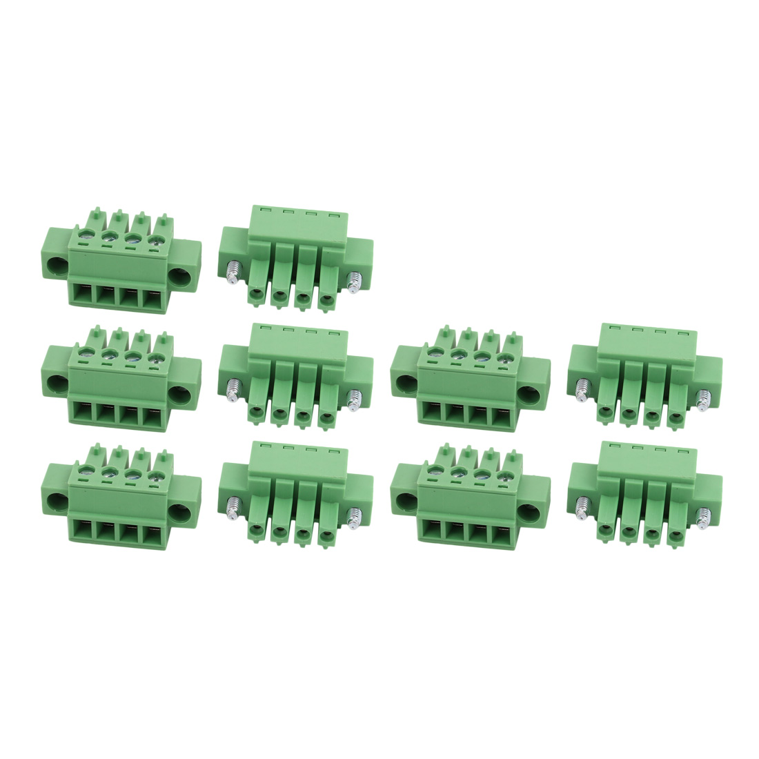 10Pcs LC1M AC300V 8A 3.81mm Pitch 4P PCB Terminal Block Wire Connection