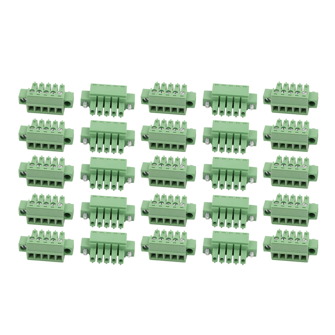 25Pcs 3.81mm Pitch 5 Positions Terminal Block Wire Connection for PCB Mounting