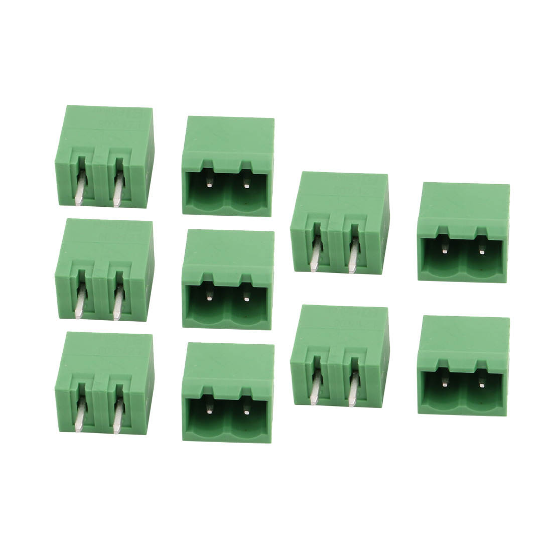 10 Pcs LZ1V 5.08mm Pitch 2P PCB Mounting Terminal Block Wire Connector
