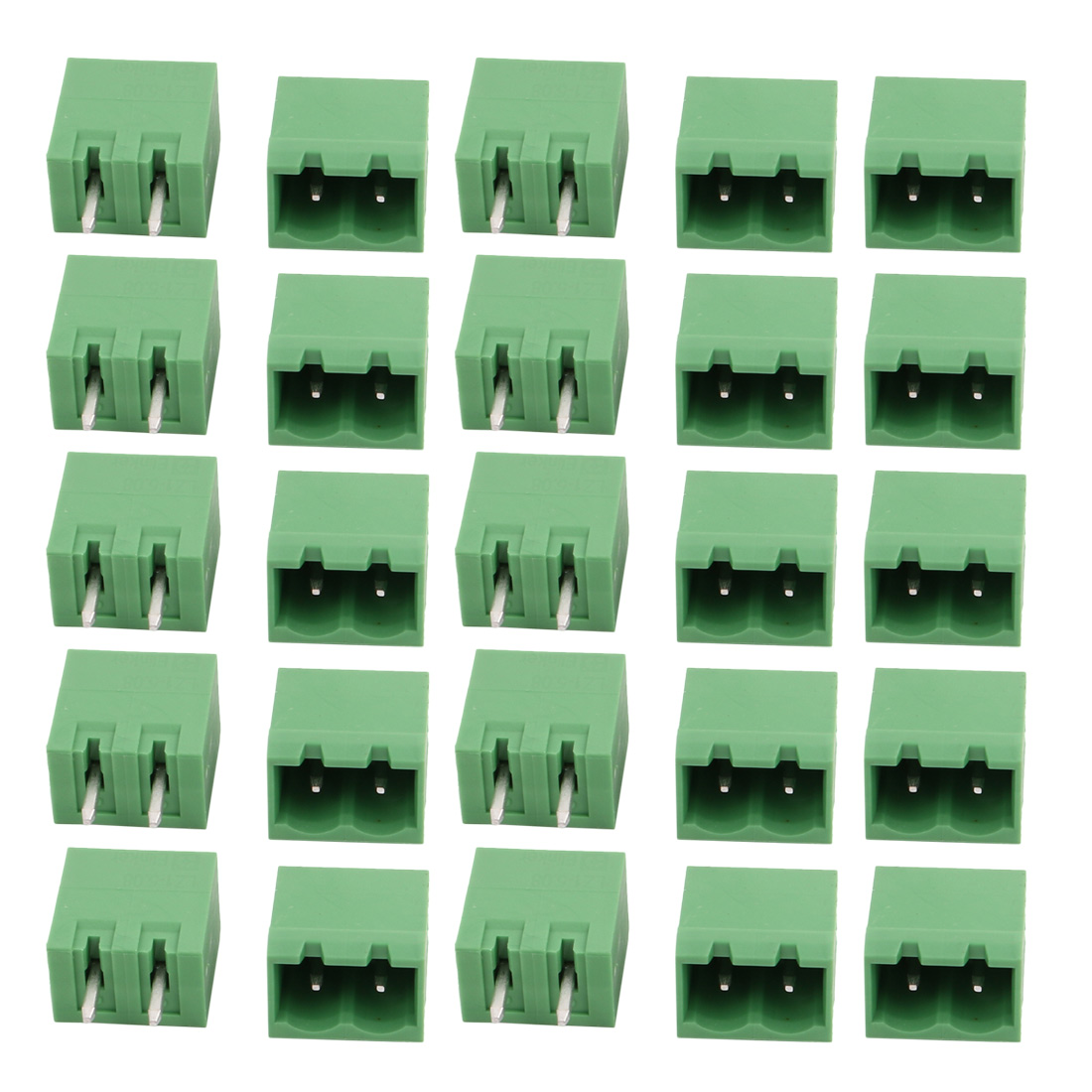 25Pcs LZ1V 5.08mm Pitch 2P PCB Mounting Terminal Block Wire Connector