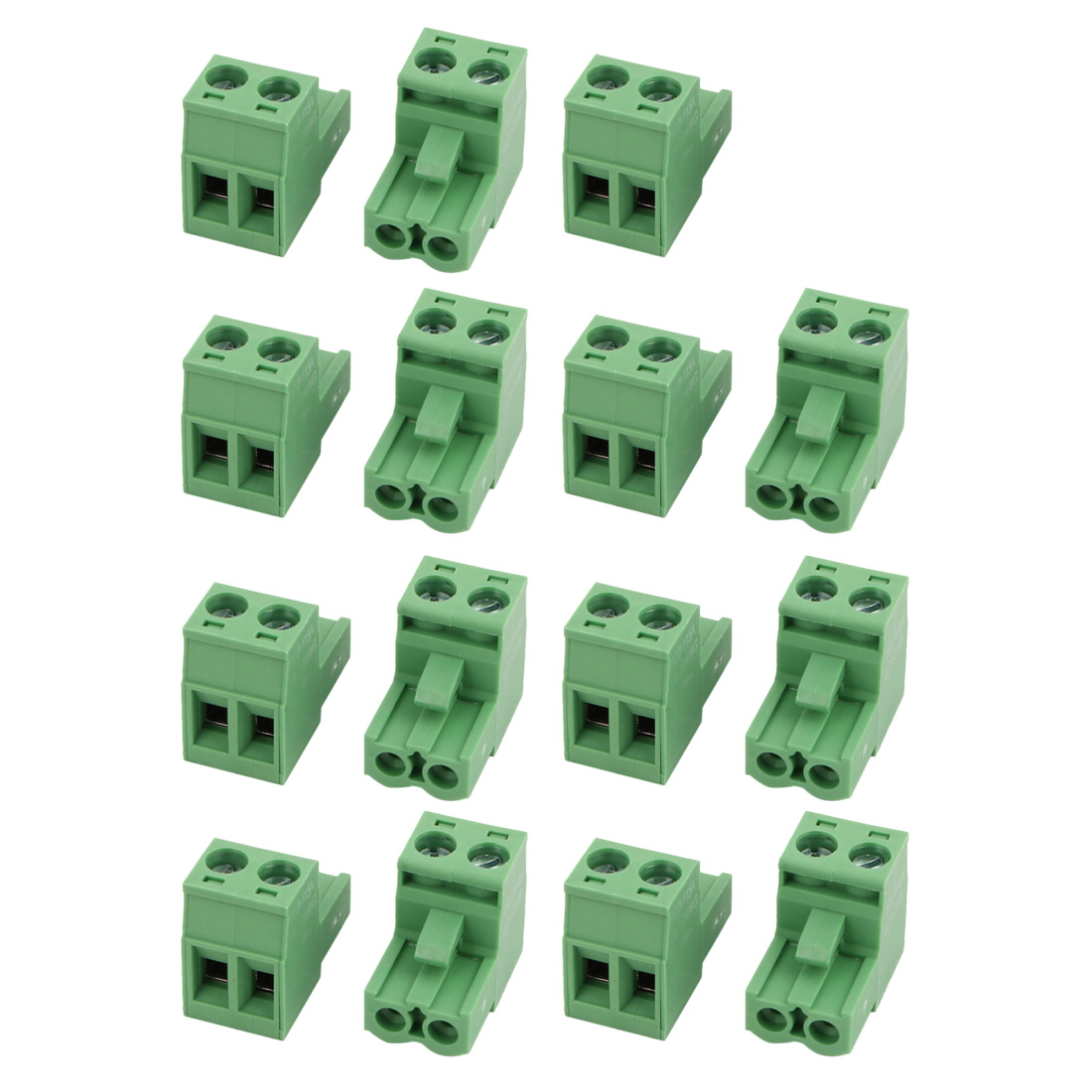 15 Pcs LC1 AC300V 15A 5.08mm Pitch 2P PCB Mount Terminal Block Wire Connector