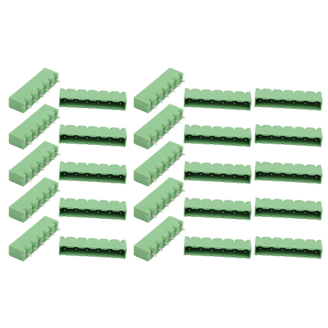 25 Pcs LZ1V 7.62mm Pitch 6P PCB Mounting Terminal Block Wire Connector