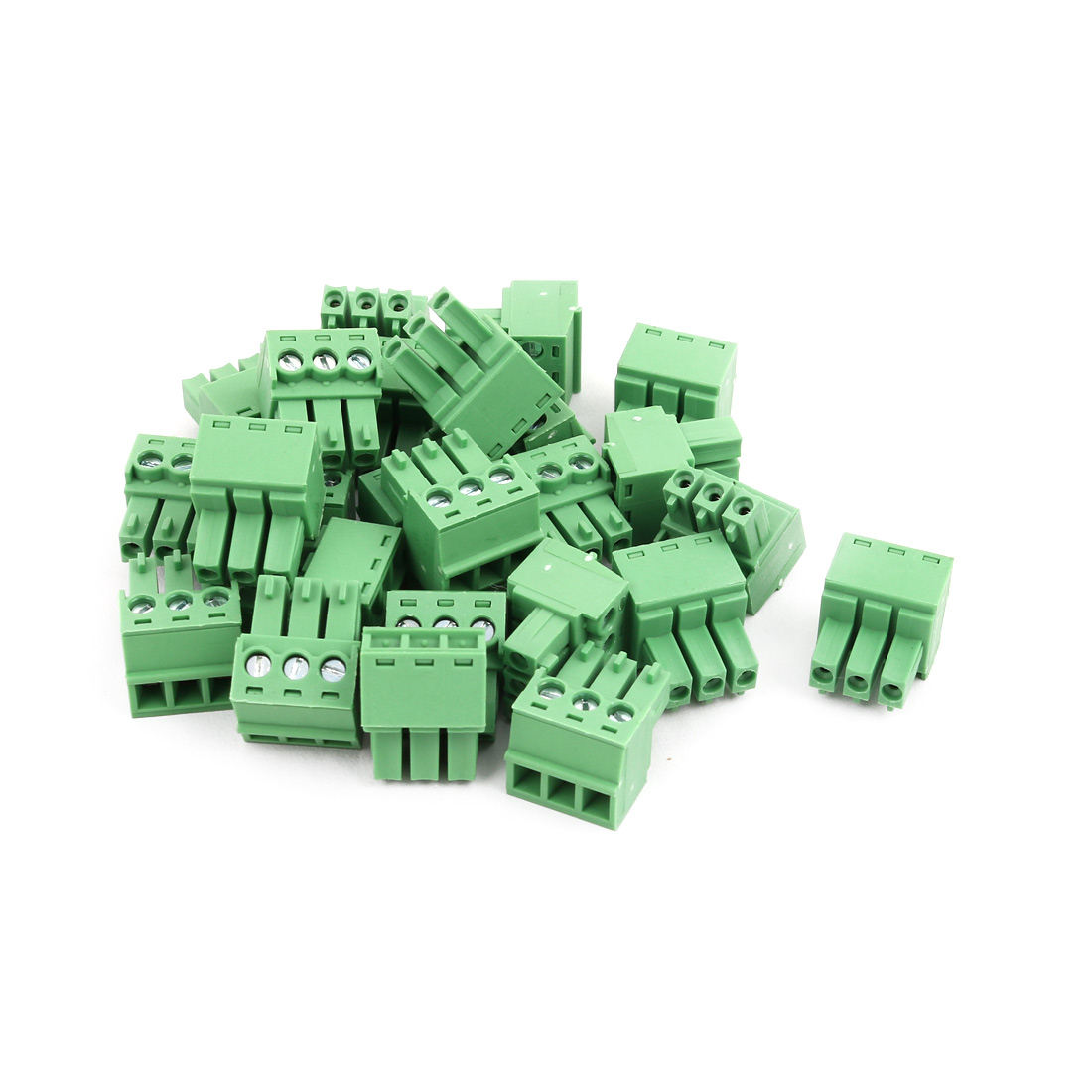 25Pcs AC 300V 8A 3.81mm Pitch 3P Terminal Block Wire Connector for PCB Mounting