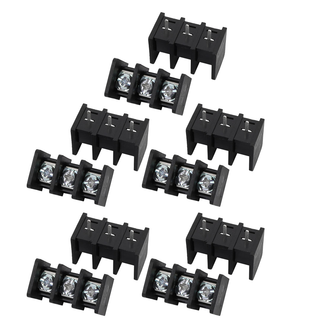 10Pcs LW1C AC 300V 20A 9.5mm Pitch 3P Screw Terminal Block Strip Barrier
