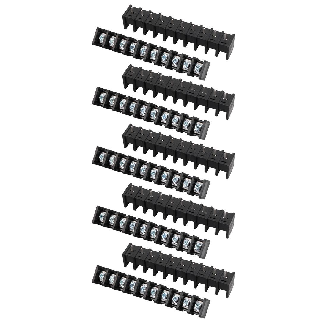 10Pcs LW1C AC 300V 20A 8.25mm Pitch 10P Screw Terminal Block Strip Barrier