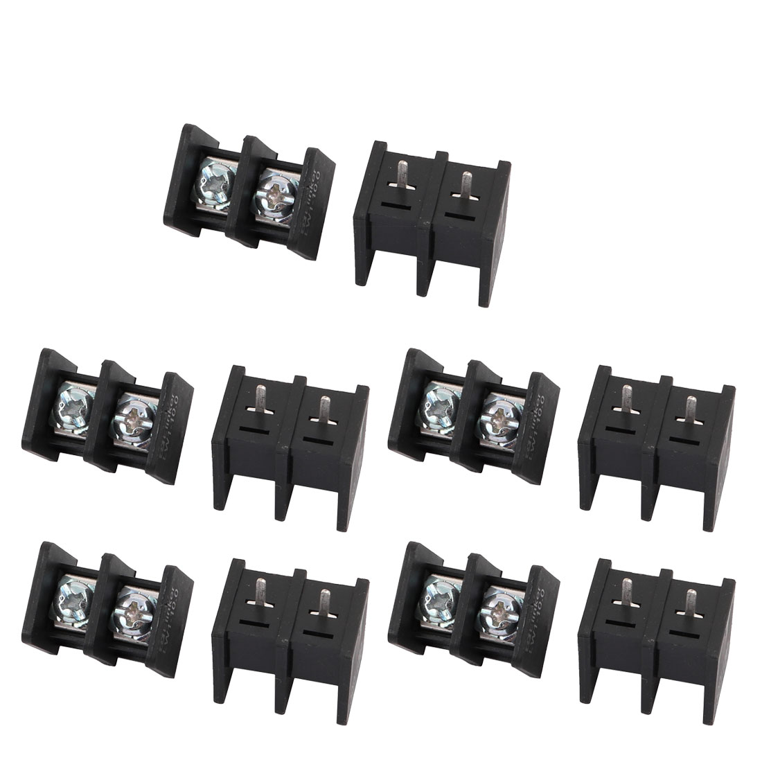 10Pcs LW1C AC300V 20A 10mm Pitch 2P Screw Terminal Block Strip Barrier