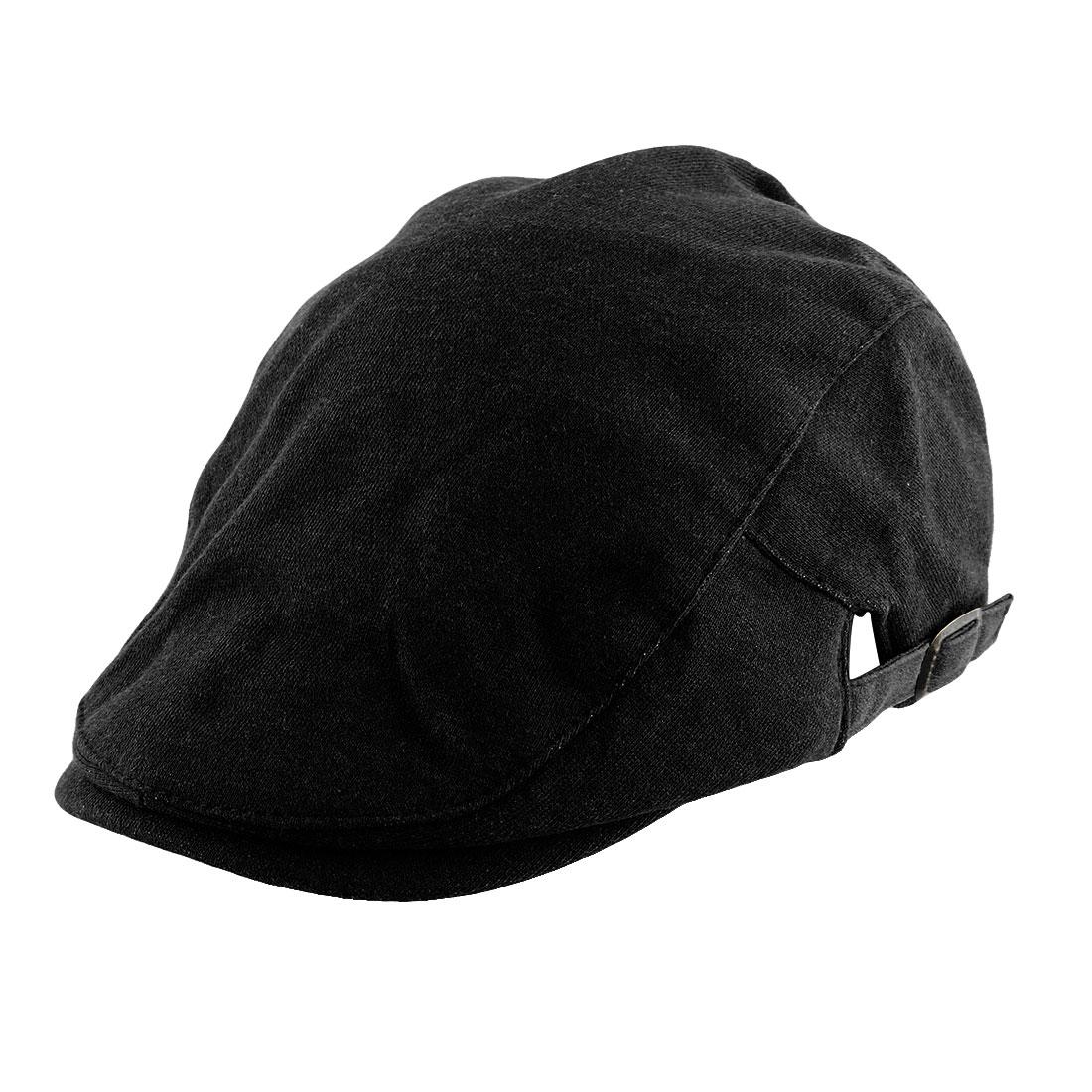 Men Women Vintage Style Newsboy Duckbill Ivy Cap Driving Flat Beret Hat Black