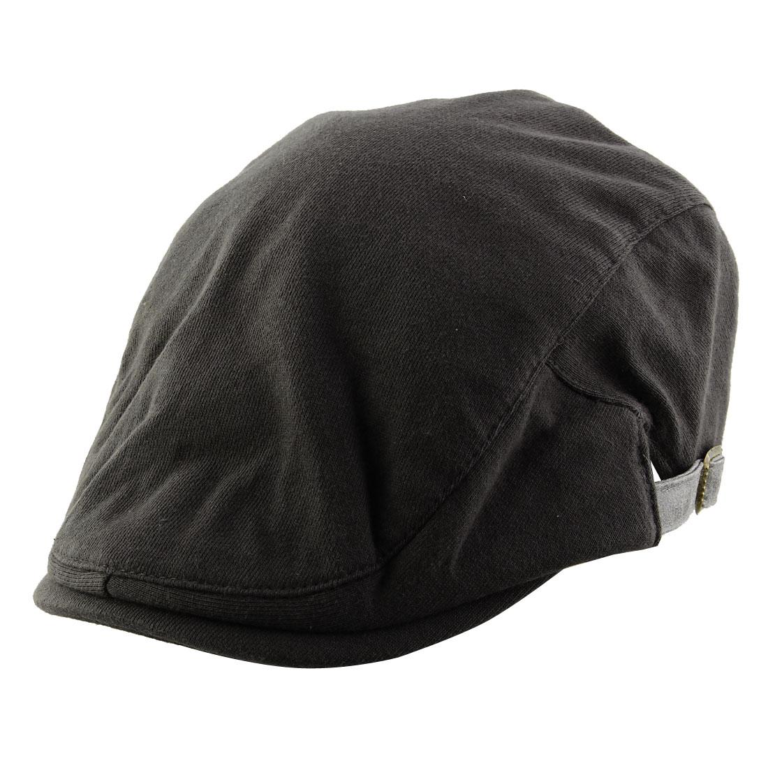 Men Women Vintage Style Newsboy Duckbill Ivy Cap Driving Beret Hat Dark Gray
