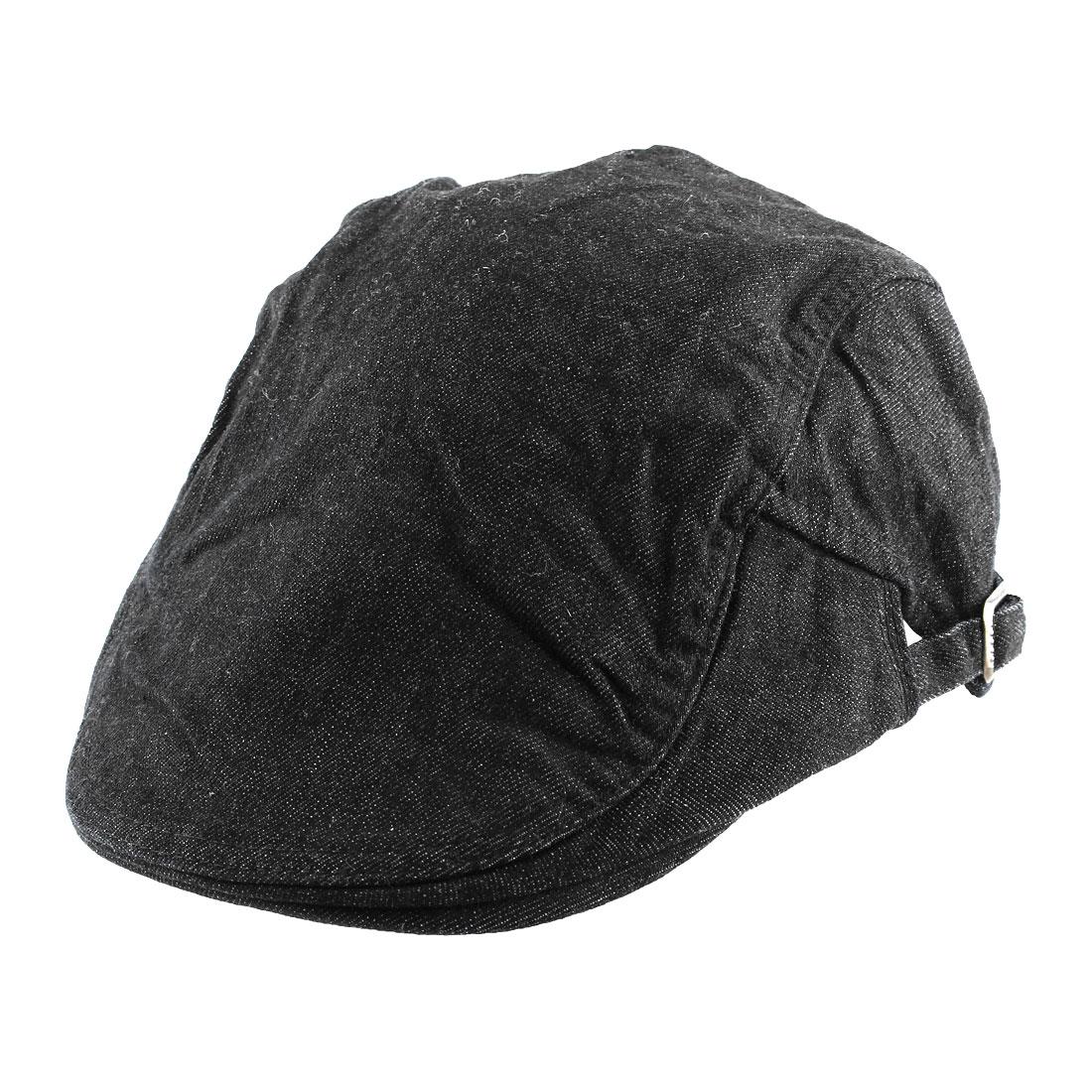 Men Women Vintage Style Newsboy Canvas Ivy Cap Driving Casual Beret Hat Black