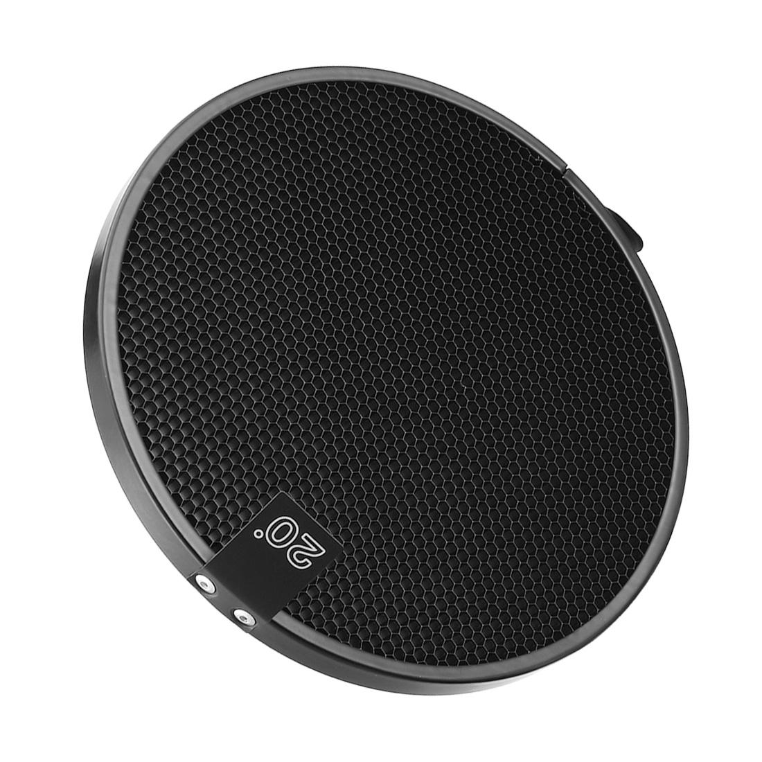 20 Degree Honeycomb Grid Black for 7-inch Reflector Diffuser Lamp Shade Dish