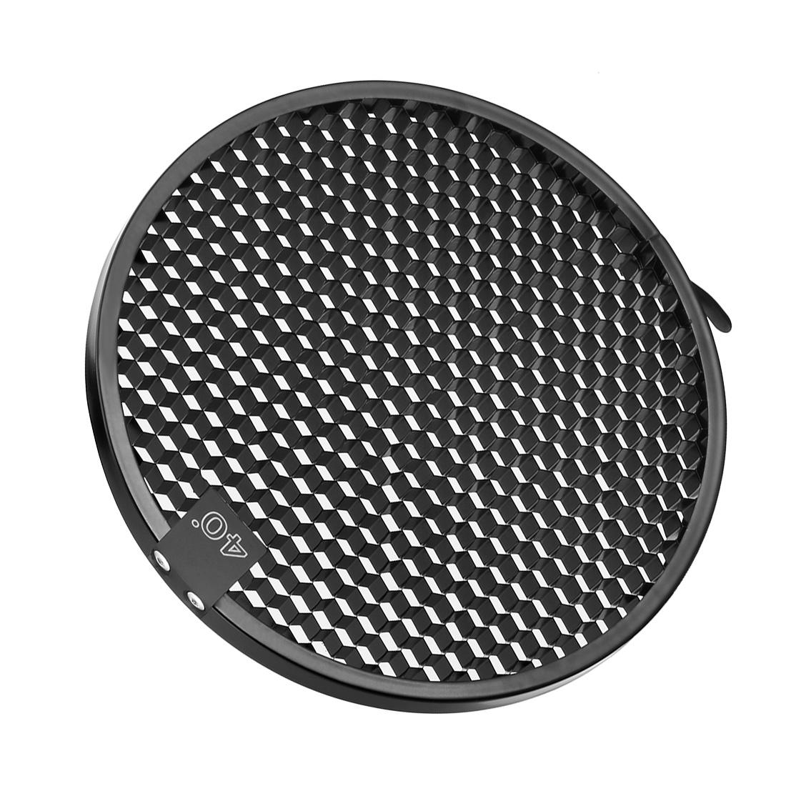 40 Degree Honeycomb Grid Black for 7-inch Reflector Diffuser Lamp Shade Dish