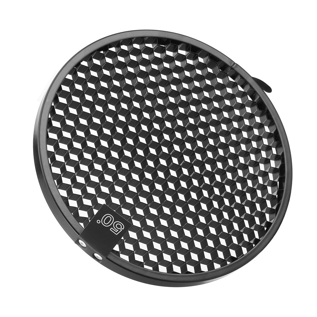 50 Degree Honeycomb Grid Black for 7-inch Reflector Diffuser Lamp Shade Dish