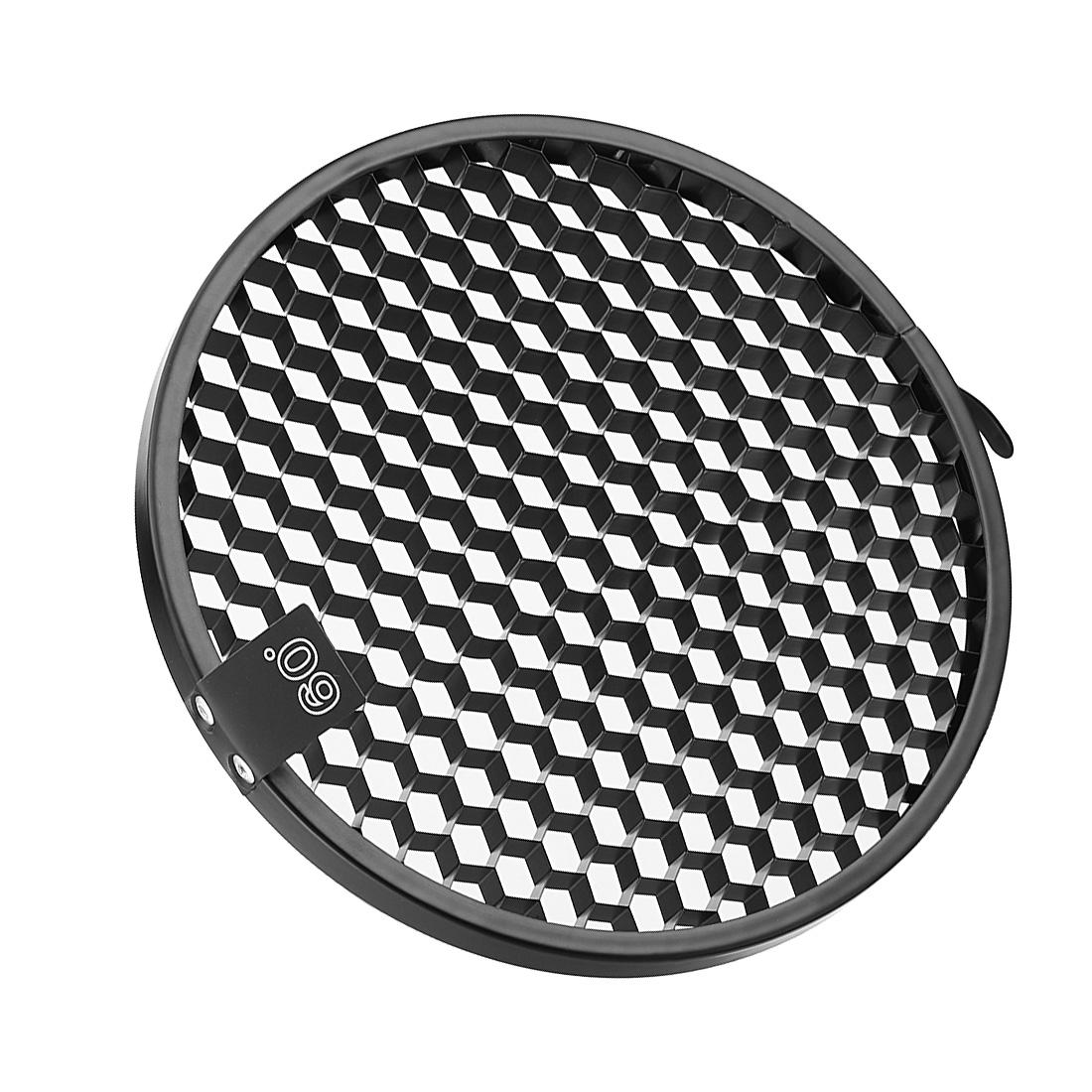 60 Degree Honeycomb Grid Black for 7-inch Reflector Diffuser Lamp Shade Dish