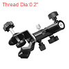 Black 180 Degrees Adjustable E Type Bracket Studio Holder w U-type Clip