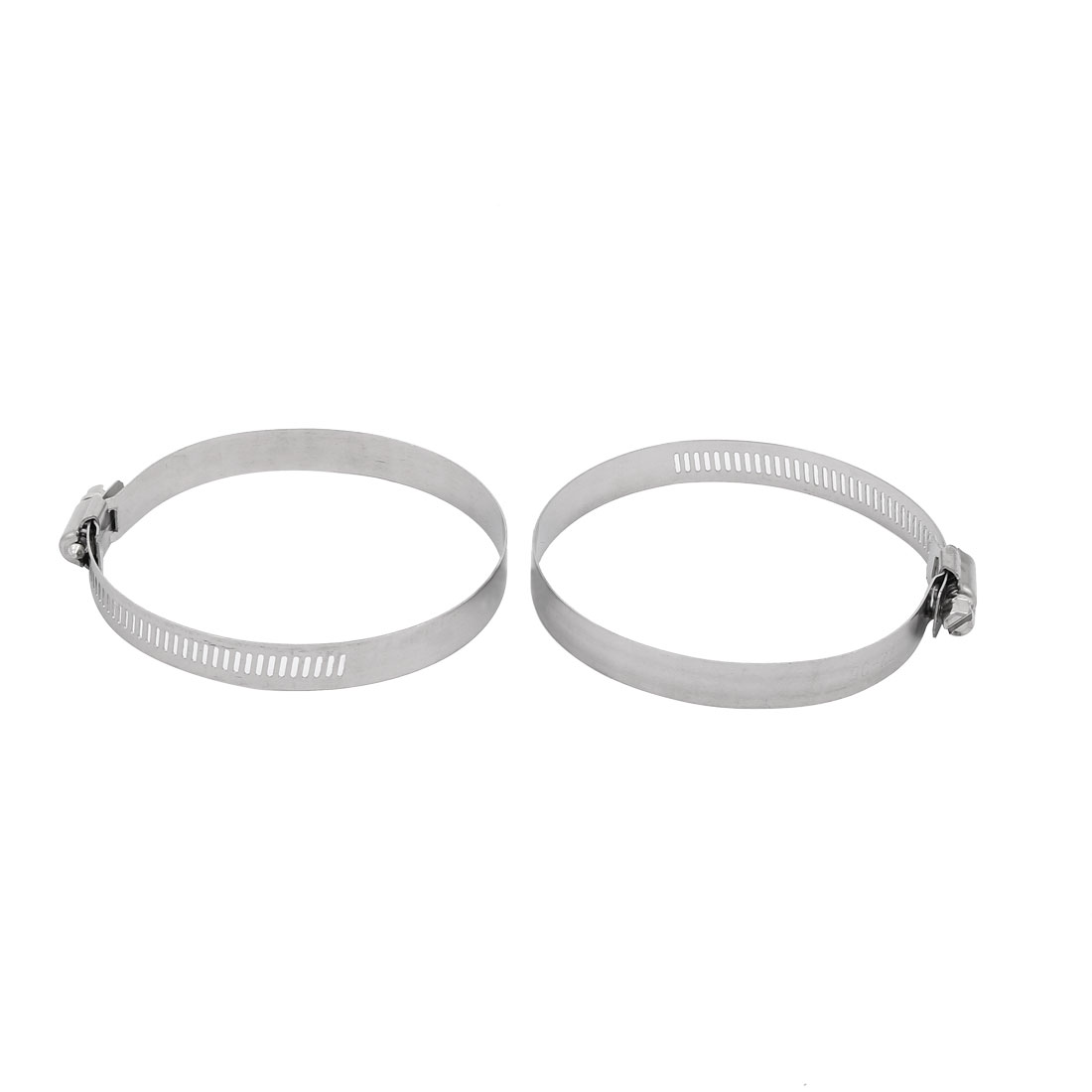 2pcs 72mm to 95mm Clamping Range 12mm Width Metal Hose Clamp