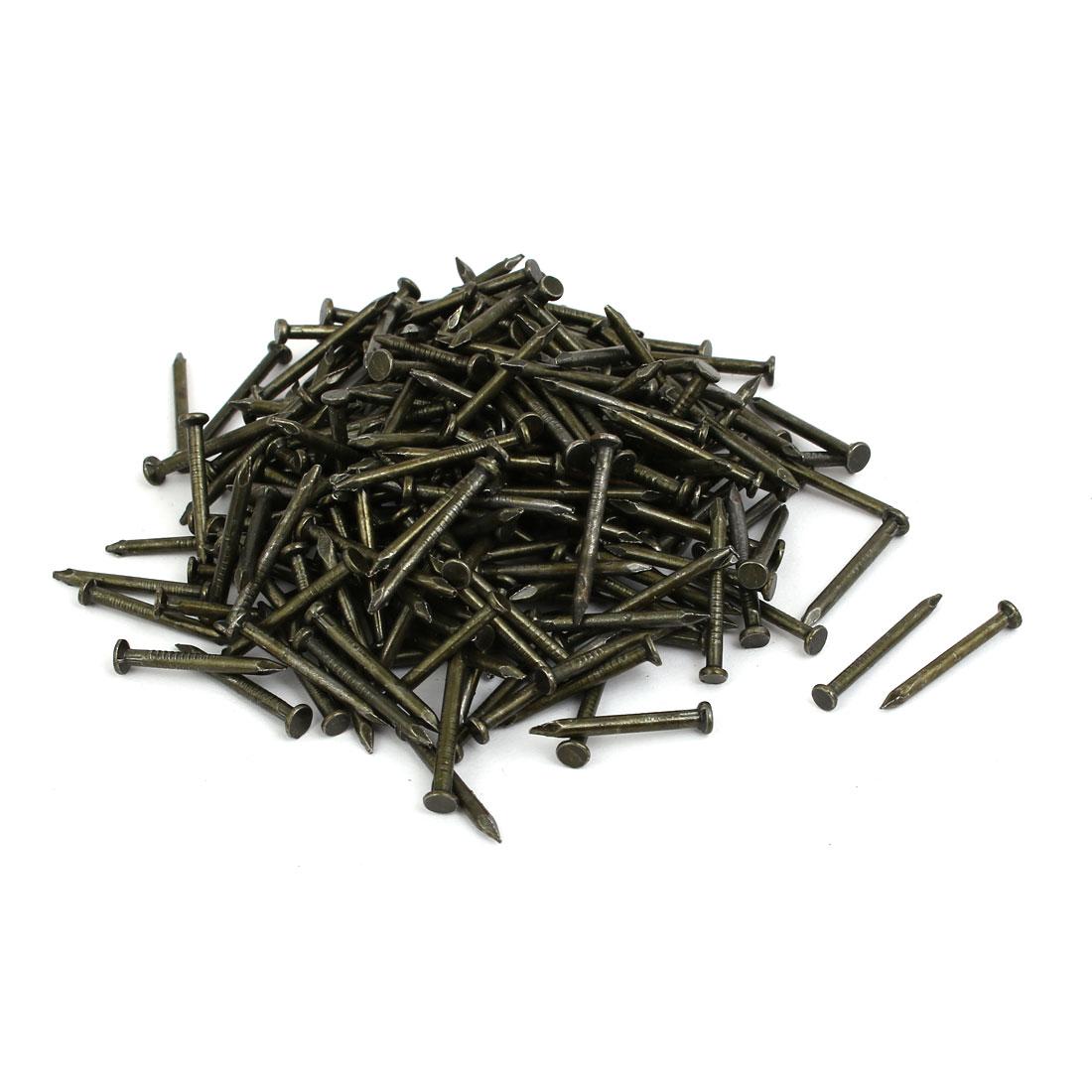 Fiber Concrete Cement Wall Carbon Steel Point Tip Wire Nails 2mmx20mm 500PCS