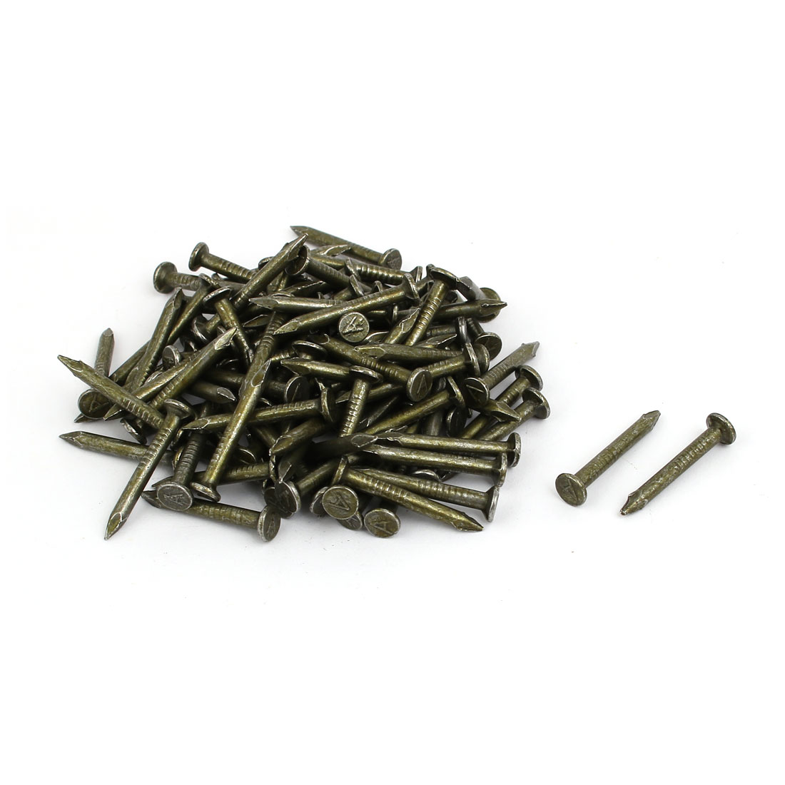 2.8mm x 25mm Carbon Steel Round Head Siding Wall Cement Nail 100pcs