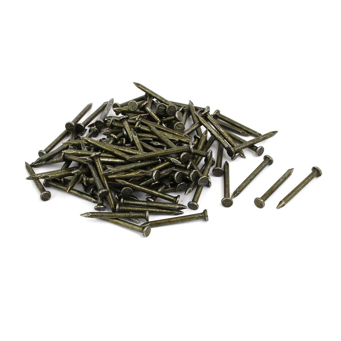 Fiber Concrete Cement Wall Carbon Steel Point Tip Wire Nails 2.8mmx32mm 200PCS