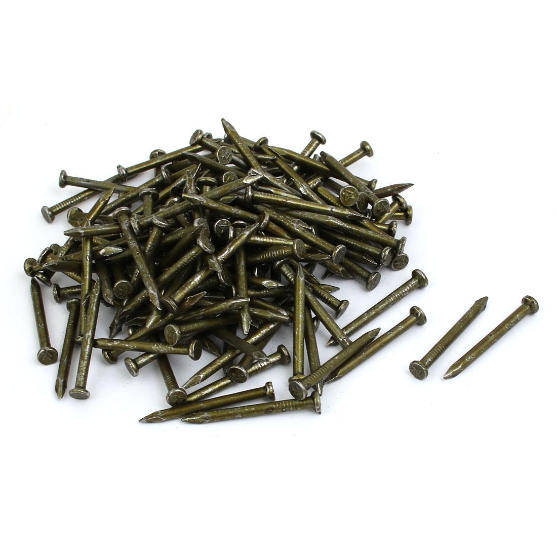 Fiber Concrete Cement Wall Carbon Steel Point Tip Wire Nails 3.4mmx40mm 200PCS