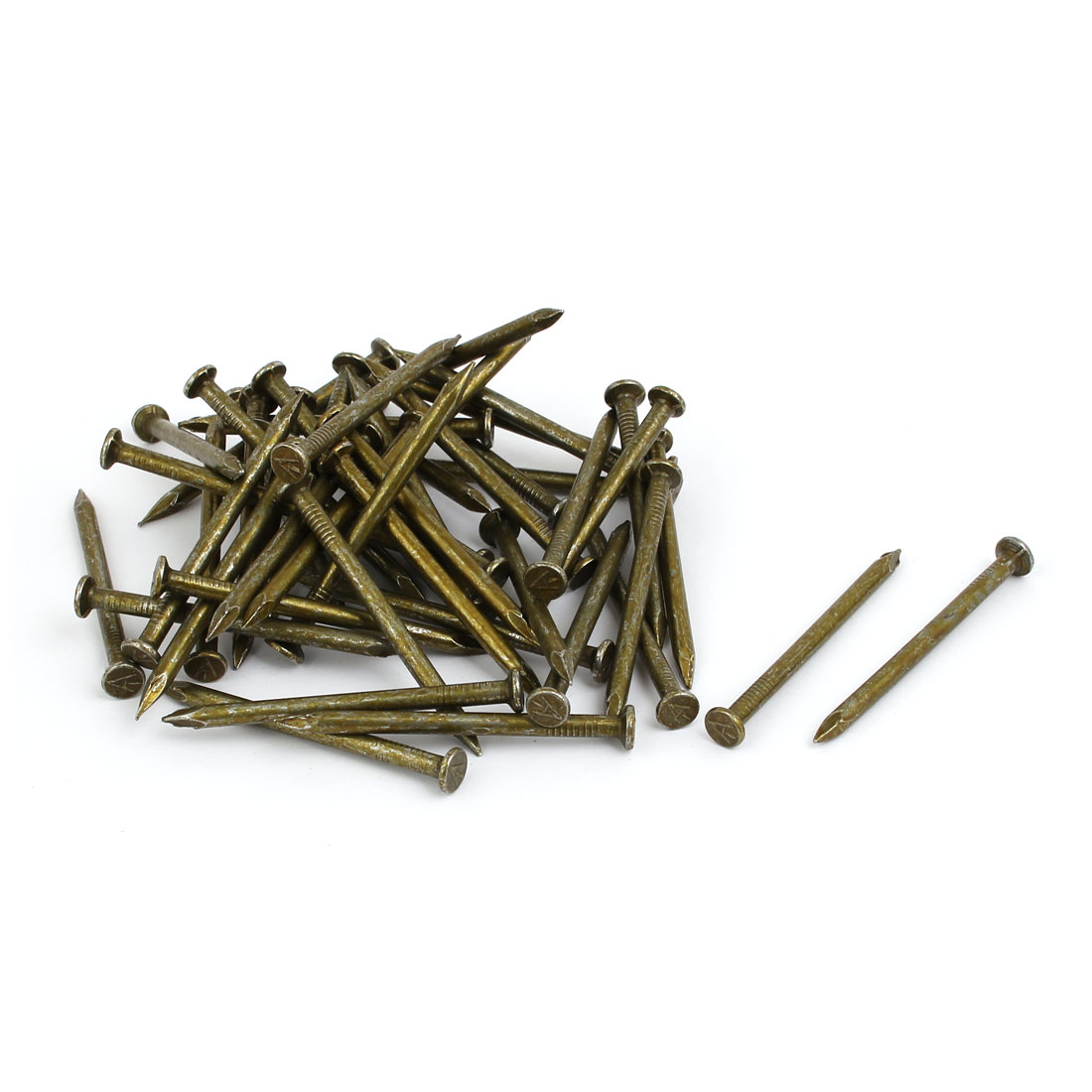 3.8mm Dia 60mm Length Carbon Steel Round Head Siding Wall Cement Nail 50pcs
