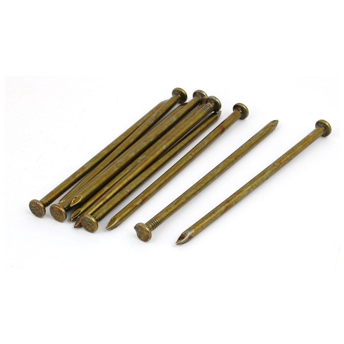 Fiber Concrete Cement Wall Carbon Steel Point Tip Wire Nails 5mmx120mm 10PCS