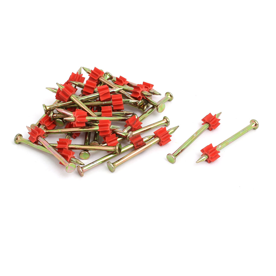 50mm long 3mm Shaft Carbon Steel Hammer Driver Fastener Cement Nail 30pcs