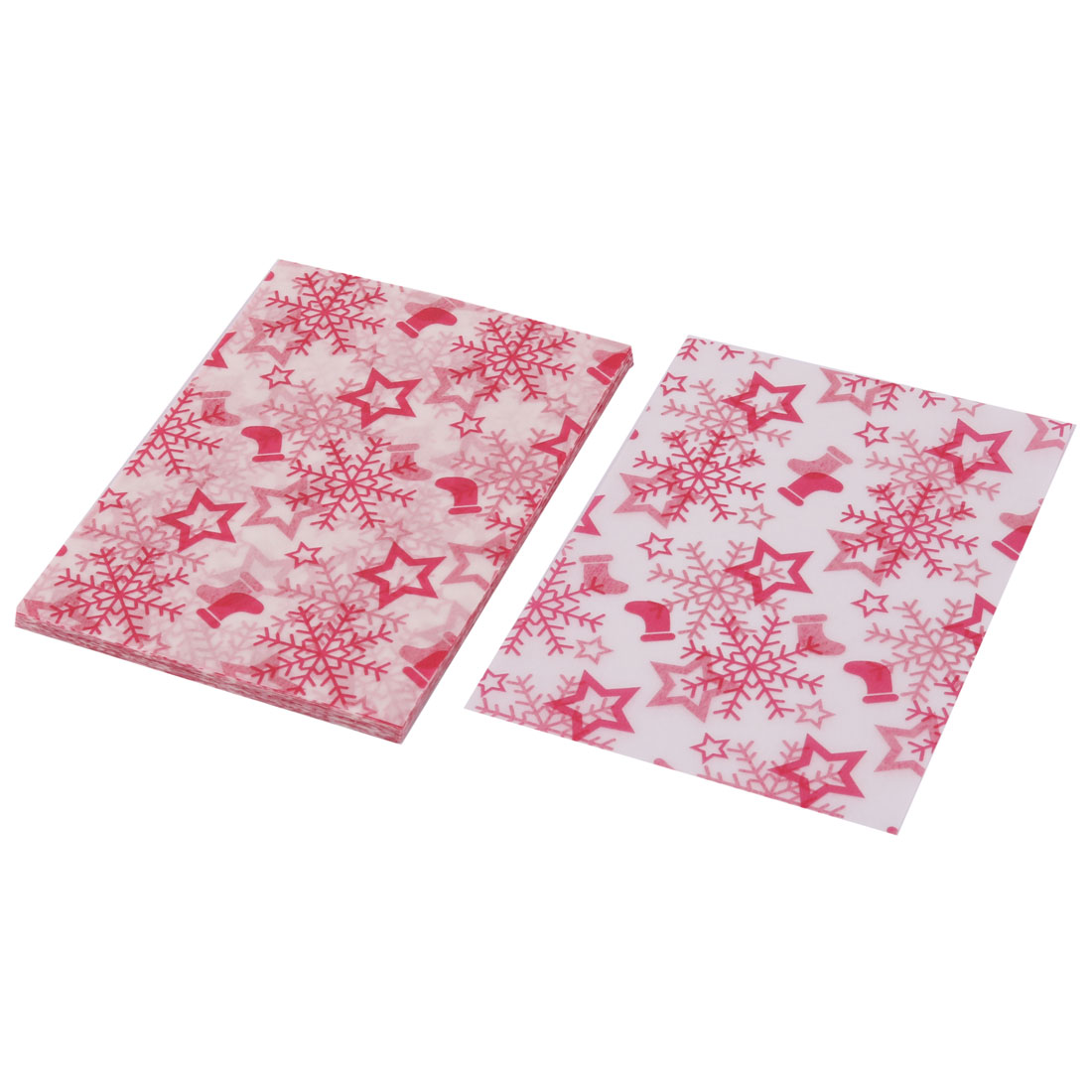 Birthday Snowflake Pattern Candy Sugar Chocolate Packaging Wrapping Paper 100pcs