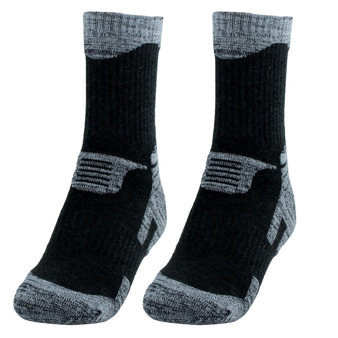 R-BAO Authorized Men Trekking Hiking Exercise Sports Cycling Socks Black L Pair