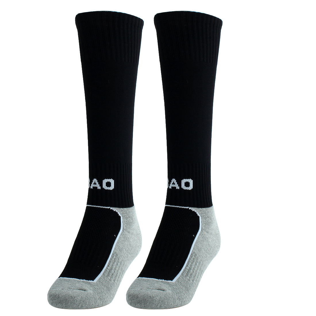 R-BAO Authorized Outdoor Sports Soccer Football Long Socks Black Pair