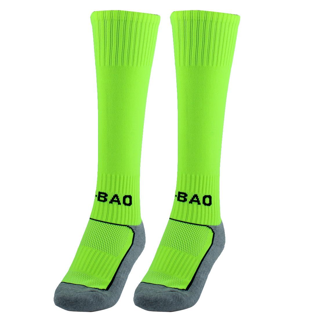R-BAO Authorized Outdoor Soccer Football Long Socks Fluorescent Green Pair